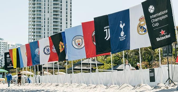 ICC team flags