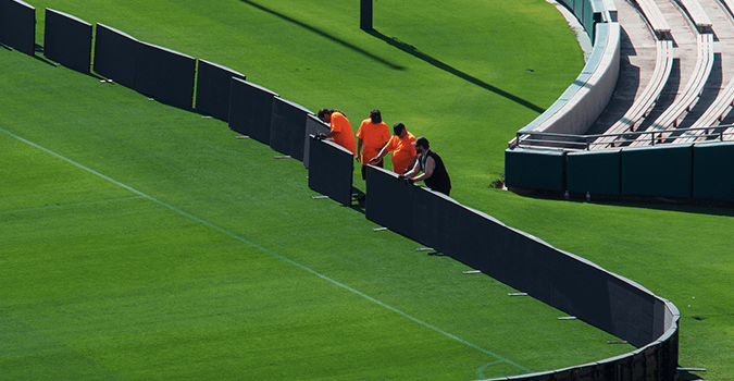 installing leds on field