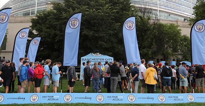 Manchester City fan activation zone