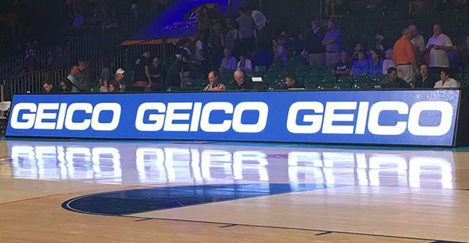 geico leds basketball