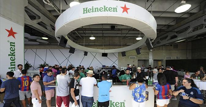 Heinekin fan activation zone 1